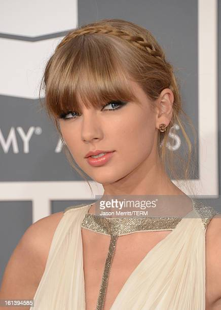 Singer Taylor Swift arrives at the 55th Annual GRAMMY Awards at Staples Center on February 10 2013 in Los Angeles California
