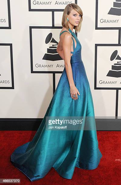 Singer Taylor Swift arrives at the 57th GRAMMY Awards at Staples Center on February 8 2015 in Los Angeles California