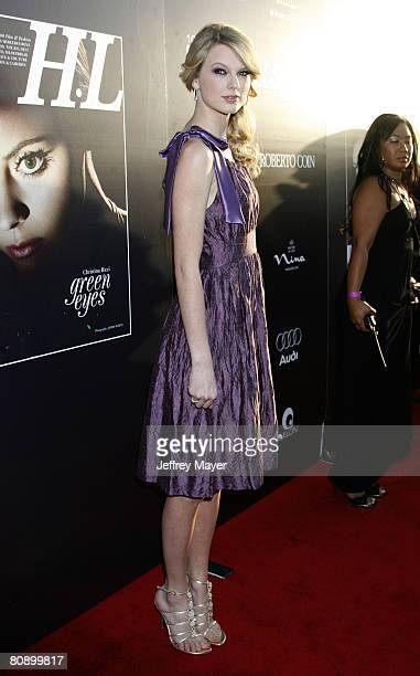 Singer Taylor Swift arrives at the Hollywood Life Magazines Young Hollywood Awards on April 27 2008 at the Avalon in Hollywood California