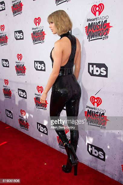 Singer Taylor Swift arrives at the iHeartRadio Music Awards at The Forum on April 3 2016 in Inglewood California