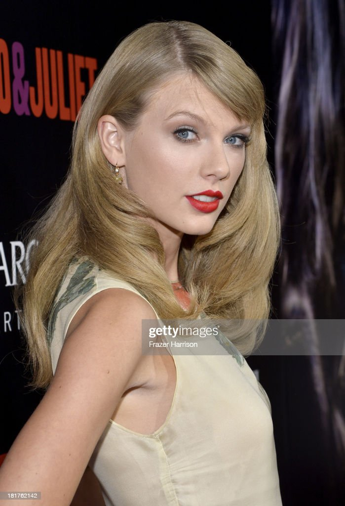 Singer Taylor Swift arrives at the premiere of Relativity Media's 'Romeo And Juliet' at ArcLight Cinemas on September 24, 2013 in Hollywood, California.