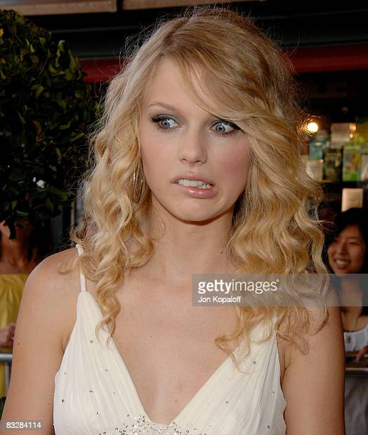 """Singer Taylor Swift arrives to the World Premiere of Warner Premiere's """"Another Cinderella Story"""" at the Pacific Theatres at the Grove on September..."""