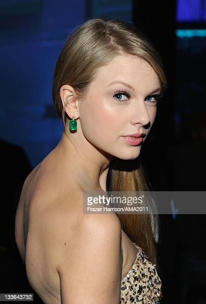 Singer Taylor Swift at the 2011 American Music Awards held at Nokia Theatre LA LIVE on November 20 2011 in Los Angeles California