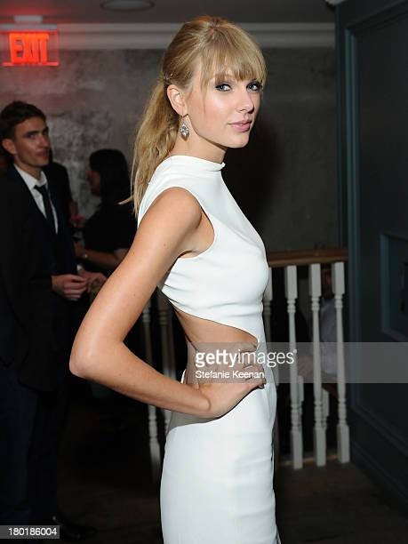 Singer Taylor Swift at the Grey Goose vodka party for The Weinstein Company and eOne Entertainment's 'August Osage County' and 'One Chance' at Soho...