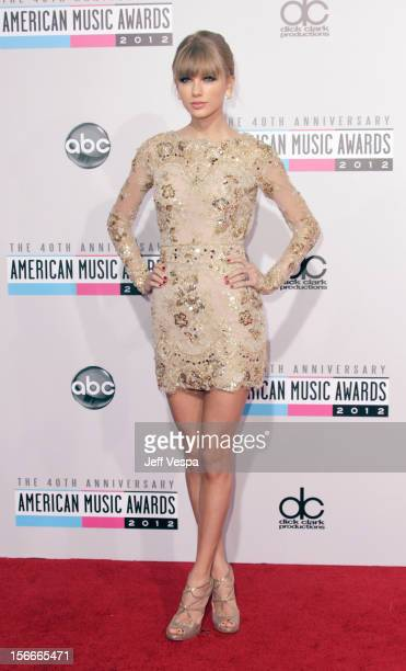 Singer Taylor Swift attends the 40th Anniversary American Music Awards held at Nokia Theatre LA Live on November 18 2012 in Los Angeles California