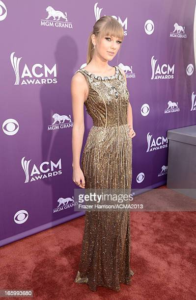 Singer Taylor Swift attends the 48th Annual Academy of Country Music Awards at the MGM Grand Garden Arena on April 7, 2013 in Las Vegas, Nevada.