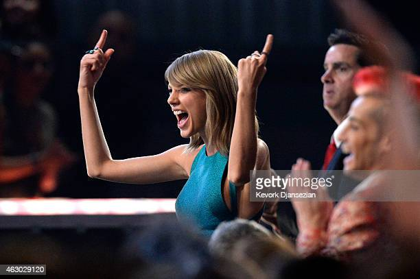 Singer Taylor Swift attends The 57th Annual GRAMMY Awards at the at the STAPLES Center on February 8 2015 in Los Angeles California