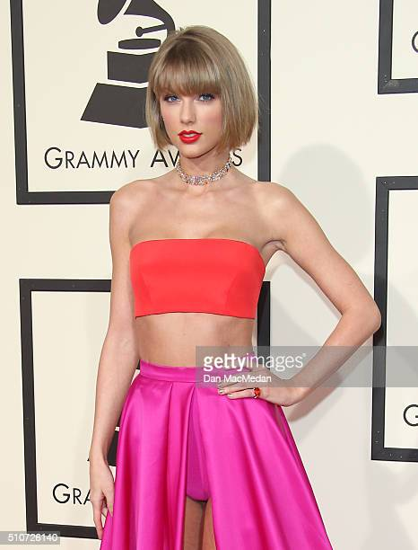 Singer Taylor Swift attends The 58th GRAMMY Awards at Staples Center on February 15 2016 in Los Angeles California