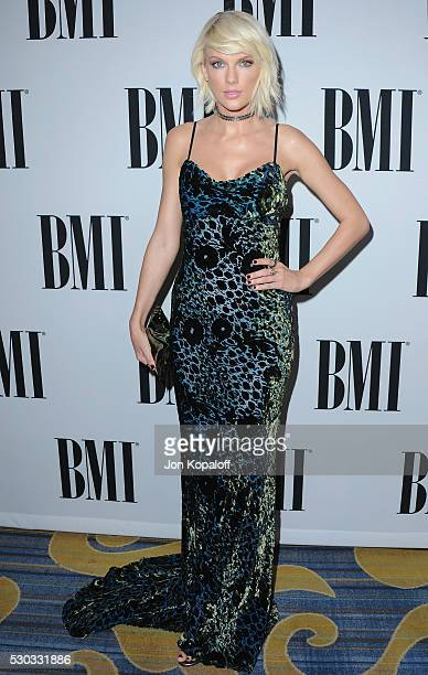 Singer Taylor Swift attends the 64th Annual BMI Pop Awards at the Beverly Wilshire Four Seasons Hotel on May 10 2016 in Beverly Hills California