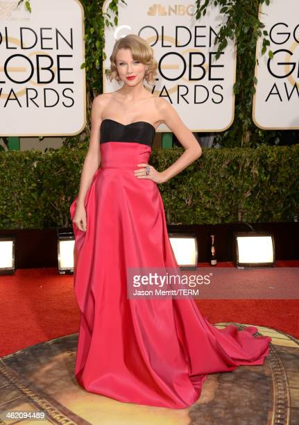 Singer Taylor Swift attends the 71st Annual Golden Globe Awards held at The Beverly Hilton Hotel on January 12 2014 in Beverly Hills California