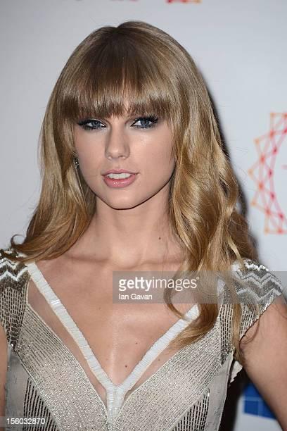 Singer Taylor Swift attends the MTV EMA's 2012 at Festhalle Frankfurt on November 11 2012 in Frankfurt am Main Germany