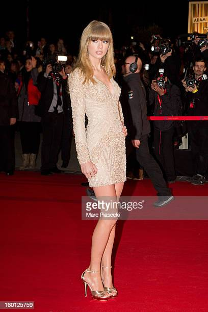 Singer Taylor Swift attends the NRJ Music Awards 2013 at Palais des Festivals on January 26, 2013 in Cannes, France.