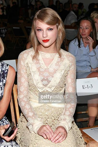 Singer Taylor Swift attends the Rodarte Spring 2012 fashion show during MercedesBenz Fashion Week on September 13 2011 in New York City
