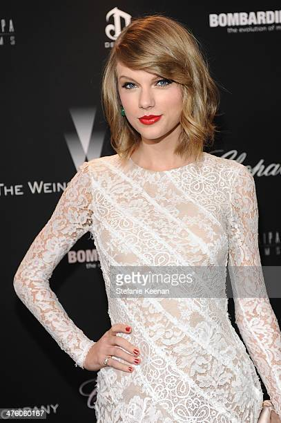 Singer Taylor Swift attends The Weinstein Company Academy Award party hosted by Chopard on March 1 2014 in Beverly Hills California