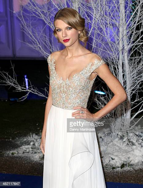 Singer Taylor Swift attends the Winter Whites Gala in aid of Centrepoint at Kensington Palace on November 26 2013 in London England