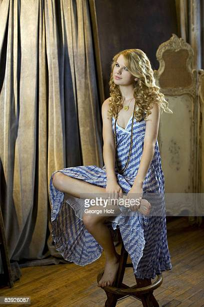 Singer Taylor Swift is photographed for Seventeen Magazine on February 19, 2008 in New York City.