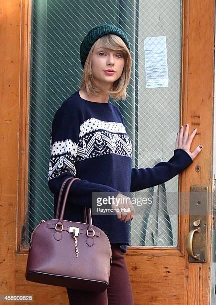 Singer Taylor Swift is seen in Soho on November 13 2014 in New York City