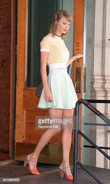 Singer Taylor Swift is seen in the West Village on July 1 2014 in New York City