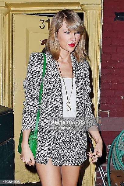 Singer Taylor Swift is seen on April 18 2015 in New York City