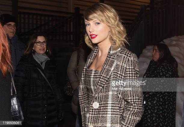 Singer Taylor Swift is seen on Main Street during the Sundance Film Festival on January 23 2020 in Park City Utah
