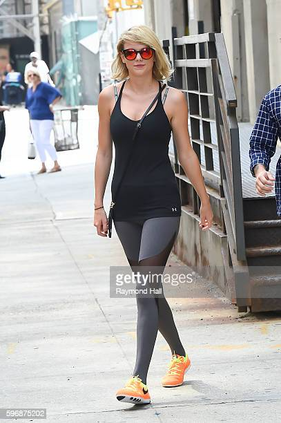 Singer Taylor Swift is seen outside her gym in Soho on August 26 2016 in New York City