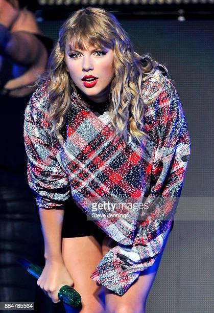 Singer Taylor Swift performs at 997 NOW Presents POPTOPIA at SAP Center on December 2 2017 in San Jose California