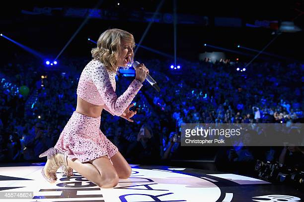Singer Taylor Swift performs onstage during the 2014 iHeartRadio Music Festival at the MGM Grand Garden Arena on September 19 2014 in Las Vegas Nevada