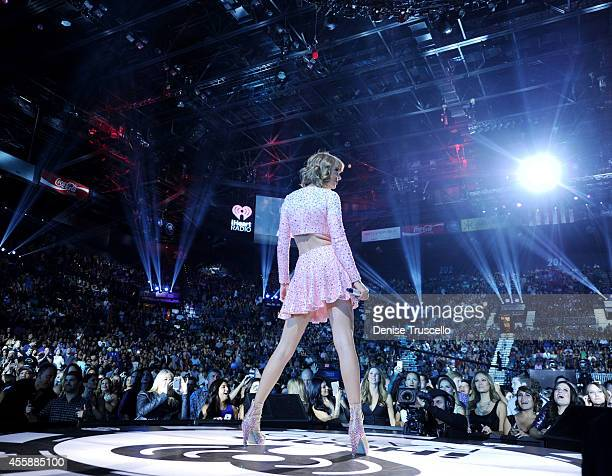 Singer Taylor Swift performs onstage during the 2014 iHeartRadio Music Festival at the MGM Grand Garden Arena on September 19 2014 in Las Vegas...