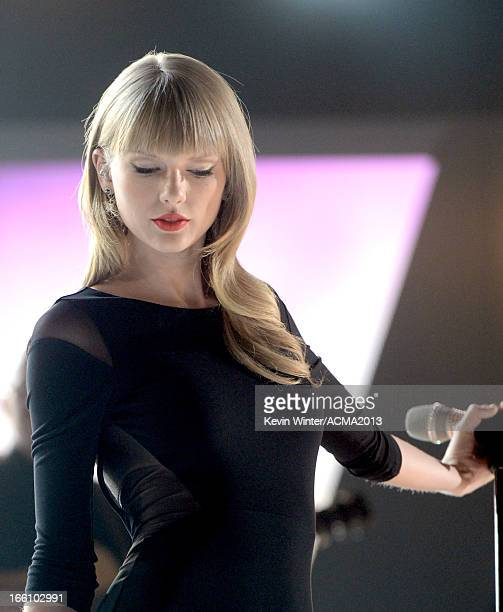 Singer Taylor Swift performs onstage during Tim McGraw's Superstar Summer Night presented by the Academy of Country Music at the MGM Grand Garden...