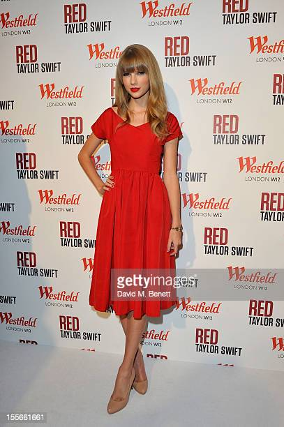 Singer Taylor Swift switches on the Christmas Lights at Westfield London, Shepherd's Bush with young ambassadors from Save the Children, Westfield's...