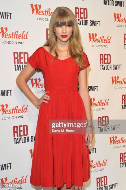 Singer Taylor Swift switches on the Christmas Lights at Westfield London Shepherd's Bush with young ambassadors from Save the Children Westfield's...