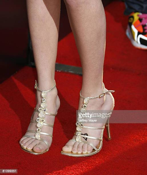 Singer Taylor Swift's shoes at the Hollywood Life Magazines Young Hollywood Awards on April 27 2008 at the Avalon in Hollywood California
