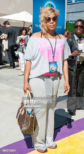 Singer TBoz attends Universal Studios Hollywood Celebrates The Premiere Of New 3D Ultra HD digital Animation Adventure Despicable Me Minion Mayhem at...