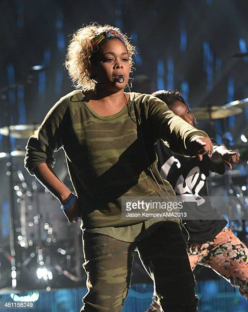 Singer TBoz of TLC performs onstage during rehearsals for the 2013 American Music Awards at Nokia Theatre LA Live on November 21 2013 in Los Angeles...