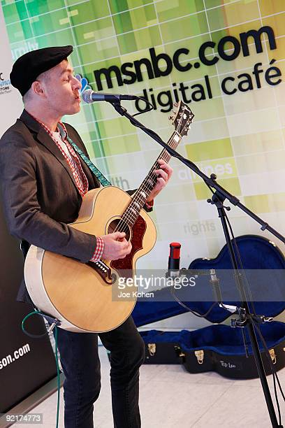 Singer Ted Leo performs at the NBC Experience Store on October 21 2009 in New York City
