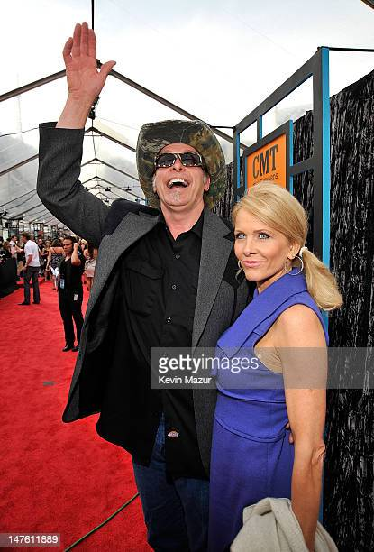 Singer Ted Nugent and his wife Shemane attend the 2009 CMT Music Awards at the Sommet Center on June 16 2009 in Nashville Tennessee