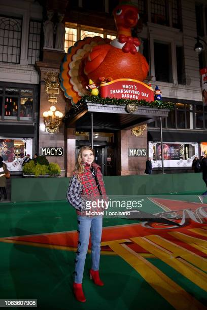 Singer Tegan Marie poses during the 92nd Annual Macy's Thanksgiving Day Parade rehearsals day one on November 19 2018 in New York City