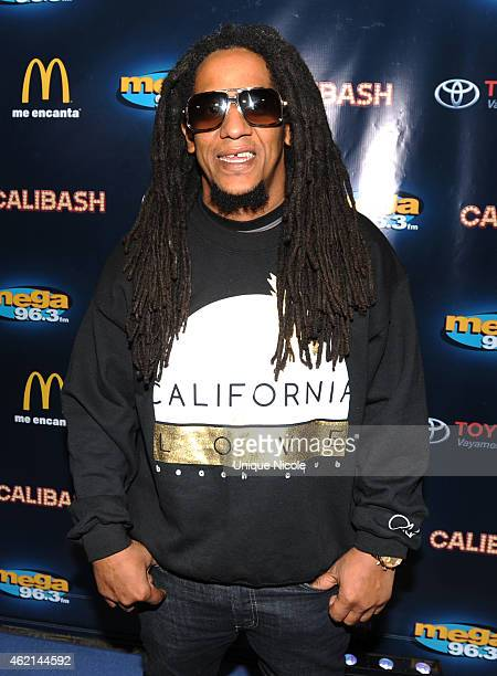 Singer Tego Calderon attends the Mega 963 Calibash at Staples Center on January 24 2015 in Los Angeles California