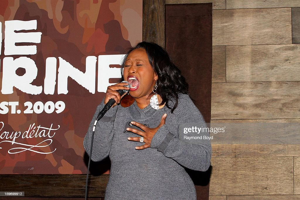 Singer Terisa Griffin, contestant on Season Three of NBC's 'The Voice', performs during 'The Experience With Frankie Knuckles' at The Shrine in Chicago, Illinois on JANUARY