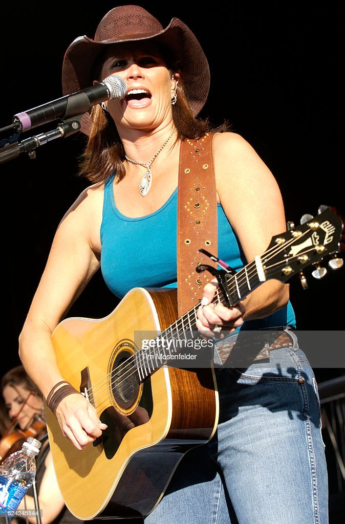 Singer Terri Clark performs as part of the 'Two Hats and a Redhead Tour' at the Chronicle Pavilion in Concord.