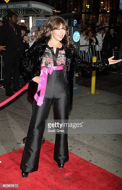 """Singer Thalia arrives at a party to celebrate the one year anniversary of the """"Conexion Thalia Radio Show"""" at Spotlight Live March 24, 2008 in New..."""