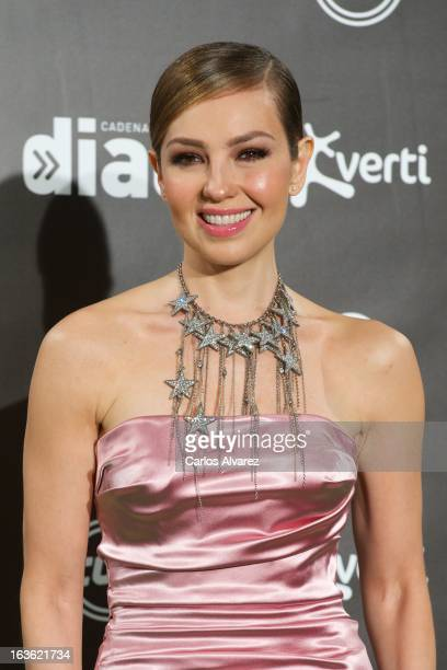 Singer Thalia attends Cadena Dial awards 2013 at the Adan Martin auditorium on March 13 2013 in Tenerife Spain