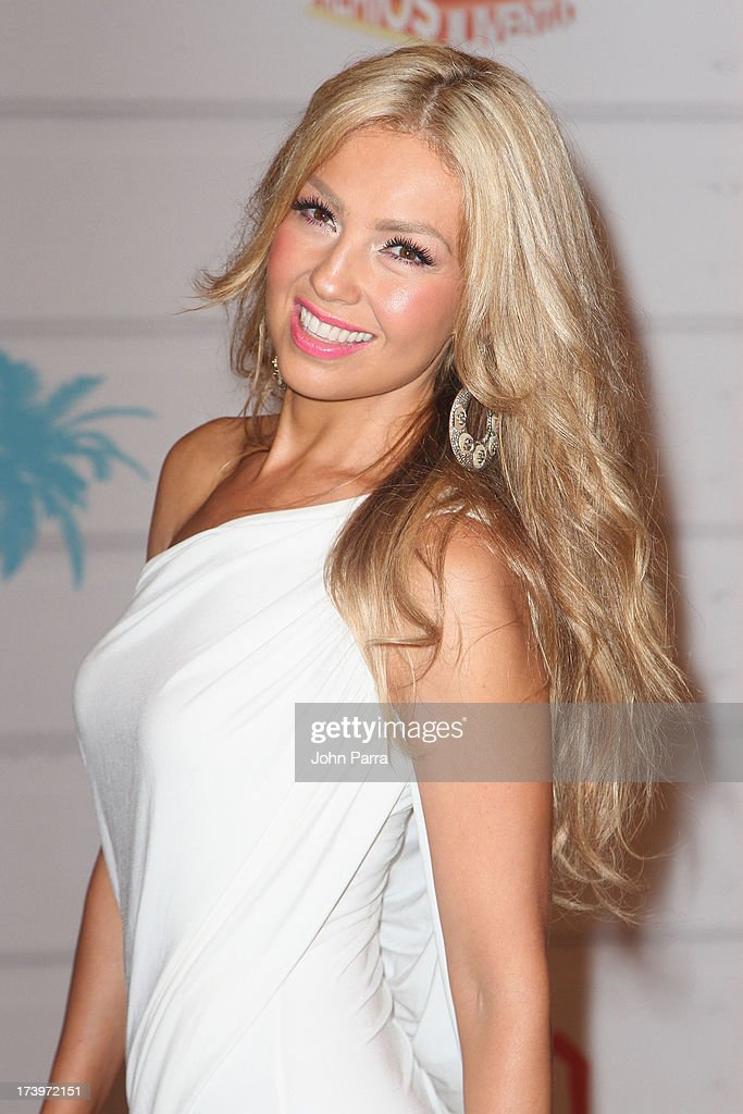 Singer Thalia attends the Premios Juventud 2013 at Bank United Center on July 18, 2013 in Miami, Florida.