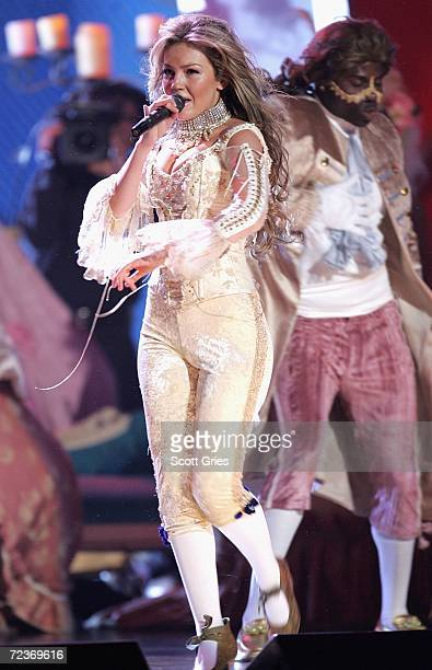 Singer Thalia performs onstage at the 7th Annual Latin Grammy Awards at Madison Square Garden November 2 2006 in New York City
