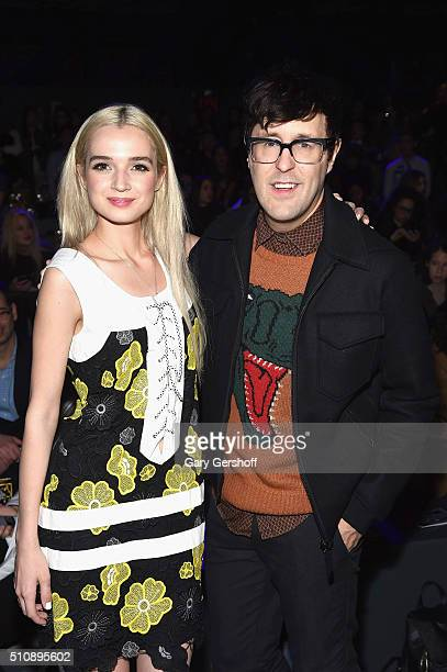 Singer That Poppy and Teen Vogue's Style Director Andrew Bedan attend the Anna Sui fashion show during New York Fashion Week Fall 2016 at The Arc...