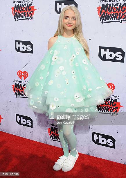 Singer That Poppy arrives at iHeartRadio Music Awards on April 3 2016 in Inglewood California
