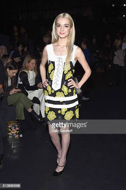 Singer That Poppy attends the Anna Sui fashion show during New York Fashion Week Fall 2016 at The Arc Skylight at Moynihan Station on February 17...