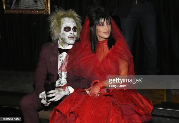 Singer The Weeknd and model Bella Hadid attend Heidi Klum's 19th Annual Halloween Party Sponsored by SVEDKA Vodka and Party City at Lavo NYC on...