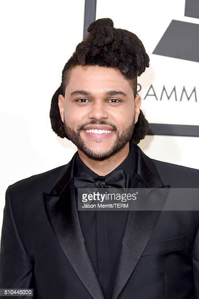Singer The Weeknd attends The 58th GRAMMY Awards at Staples Center on February 15 2016 in Los Angeles California