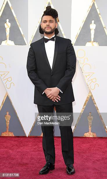 Singer The Weeknd attends the 88th Annual Academy Awards at Hollywood & Highland Center on February 28, 2016 in Hollywood, California.